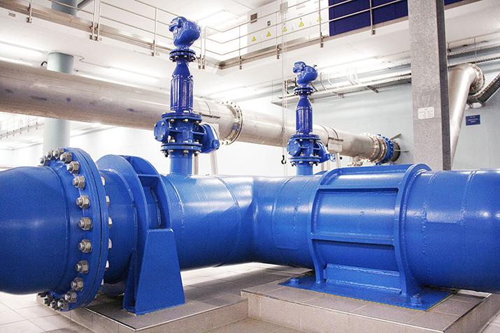 Rohrleitungen: Karbonstahl DN700 PN25; Edelstahl DN300 – DN1000 PN10