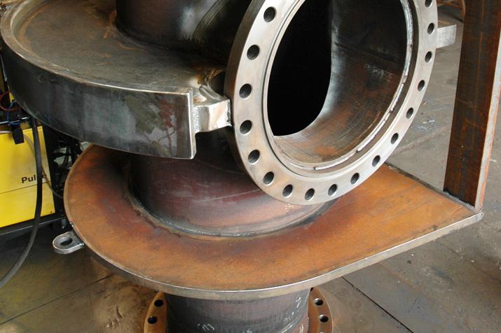 Tubulure renforcée ( collecteur DN 900 ) pour point d'ancrage fixe