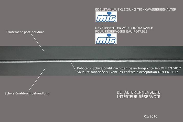 Roboterschweißnähte (MSG-Verfahren)