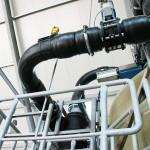 Complete piping installation for biogas treatment plant